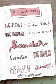 Check out these super cute April header and title ideas for inspiration to try in your bullet journal! Bullet Journal Alphabet, Bullet Journal Paper, Bullet Journal Titles, April Bullet Journal, Journal Fonts, Bullet Journal Tracker, Bullet Journal Lettering Ideas, Bullet Journal Aesthetic, Bullet Journal Writing Styles