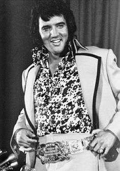 """June 09, 1972 Elvis gave a press conference at 4.00 p.m. at the Hilton. Asked about his image as a shy, humble country boy, Elvis responded: """" I don't know what makes them say that"""", and stood up to reveal the International Hotel gold belt under his jacket, with his father proudly beaming beside him. Afterwards Elvis performed at Madison Square Garden, New York."""