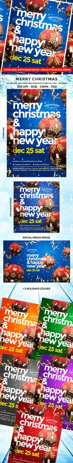 Christmas Flyer — Photoshop PSD #template • Available here ➝ https://graphicriver.net/item/christmas-flyer/20868431?ref=pxcr