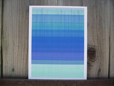 Blue and Aqua Abstract generative art Giclee by ArtAtomic on Etsy