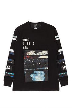 1323e292 Hood By Air Layered Graphic Long Sleeve T-Shirt - SlamJamSocialism