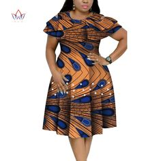 New Bazin Riche African Ruffles Collar Dresses for Women Dashiki Print Pearls Dresses Vestidos Women African Clothing - AliExpress African Dresses Plus Size, Short African Dresses, Latest African Fashion Dresses, African Print Fashion, Ankara Fashion, Africa Fashion, African Prints, African Fabric, Fashion Women