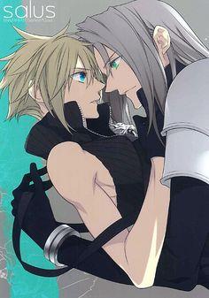 """Salus"" yaoi doujinshi by Kiki (Fujiwara Beni), Sephiroth x Cloud, Final Fantasy VII"