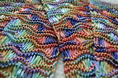 Ravelry: Project Gallery for Drop Stitch Scarf pattern by Christine Vogel