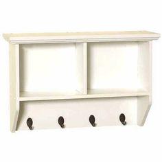 Zenith Products 9924WWA White Wall Shelf with Hooks - Walmart.com
