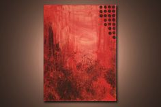 Evening Reds  2 ft x 1.5 ft Modern Abstract by ReitenourPaintings, $39.99
