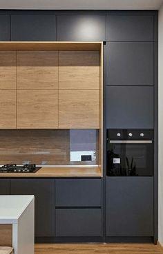 Kitchen Room Design, Kitchen Cabinet Design, Modern Kitchen Design, Home Decor Kitchen, Interior Design Kitchen, Kitchen Ideas, Interior Livingroom, Kitchen Layout, Kitchen Inspiration