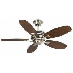 Fantasia 114345 Omega Ceiling Fan Brushed Nickel