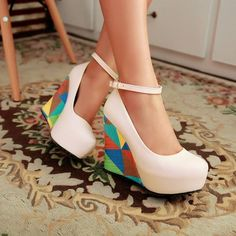 free shipping 2014 new arrivals fashion sexy wedges high heels pumps for women PU leather sandals peep toe shoes for women HH853