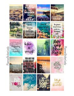Motivational/Inspirational Quotes Printable by PlannerStickerLady