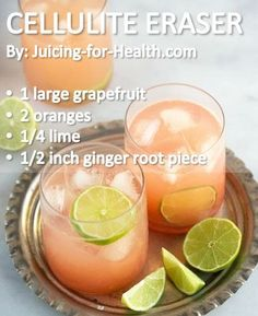 Want to get rid of that cellulite (lumpy fat deposits under the skin)? Grapefruit juice is one of the best fat-burning foods and a cellulite remover. Helps improve blood circulation Burns excess fats effectively Detoxifies and removes Healthy Juices, Healthy Smoothies, Healthy Drinks, Healthy Recipes, Detox Juices, Detox Recipes, Healthy Water, Best Juicing Recipes, Juicing Recipes With Grapefruit