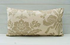 Lumbar Throw Pillow Cover Gold Sparkly UK Design by GreenCallow