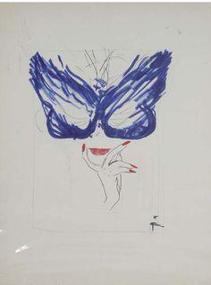 Rene Gruau,  'Blue Mask'
