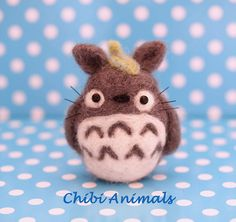 Little Needle Felted  Cute Totoro  Studio Ghibli por ChibiAnimals, €8.50
