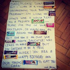Chocolate father's day card