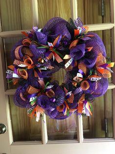 Halloween Mesh Wreath | Etsy
