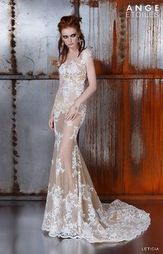 Wedding dress LETICIA, unique wedding gown, champagne dress  We are glad that you are interested in our dresses! We make dresses in order