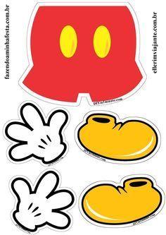 Moldes Shorts, Luvas e Sapatos do Mickey!