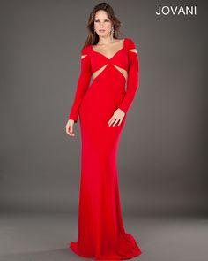Jovani Party Dress 77527 #Prom #Red #Cutout #Jersey #Sexy