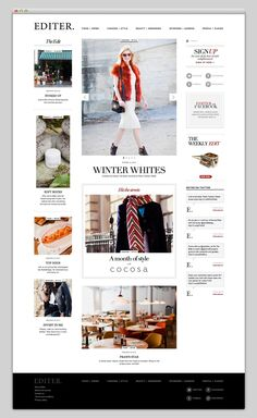 Creative Web, Design, Editer, Fashion, and Layout image ideas & inspiration on Designspiration Website Layout, Web Layout, Layout Design, Grid Website, Blog Layout, Website Design Inspiration, Layout Inspiration, Branding, Intranet Design