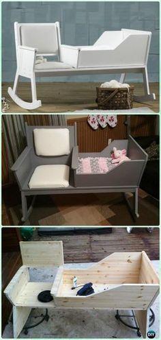 DIY Rocking Chair CribInstruction - DIY Baby Crib Projects [Free Plans] #RockingChair