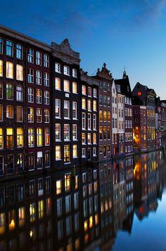 Amsterdam Channel Houses by naphetim