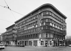 In 1992 the delapidation is hard to ignore in these buildings on the corner of Neue Schönhauser Strasse/Rosenthaler Strasse in Berlin.