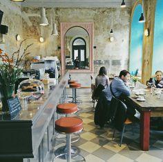 Cafe Letka in Praha, Hlavní město Praha Prague City, Inside Outside, Pub Bar, Restaurant Design, Four Square, Farmer, Bakery, Design Ideas, Culture