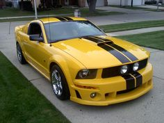 Dream car. Yellow mustang. I got my mustang not yellow but still love it.