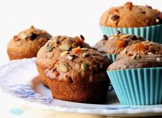 muffins integrales de zanahoria