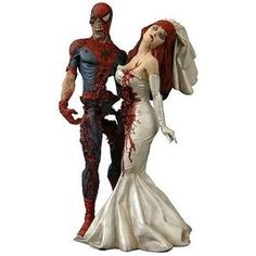 Zombie Spider-Man and Mary Jane Wedding Topper