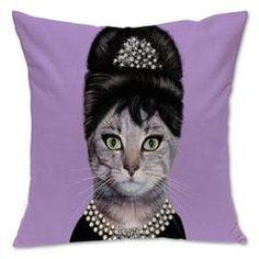 Decorative Hipster Cat Throw Pillows Throw Pillow Cases, Toss Pillows, Bed Pillows, Cushions, Hipster Cat, Breakfast At Tiffanys, Pillow Protectors, Purple, Cat Throw