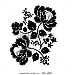 flower embroidery - Google 검색