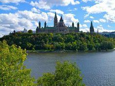 Der Parliament Hill in der kanadischen Hauptstadt Ottawa.