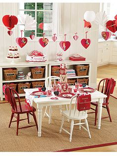 Adorable kids Valentine party
