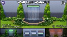Mod The Sims: Wall Light Waterfall by Bakie • Sims 4 Downloads