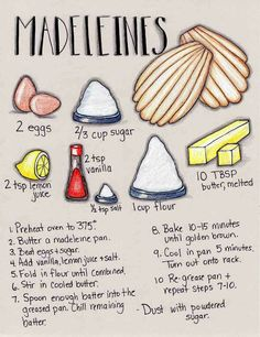 Gonna Stuff a Chicken: Illustrated Recipe: Madeleines