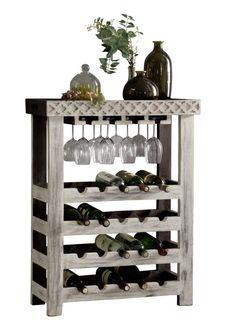 bouteilles étagère étagère Étagère à vin Lucan t323 94x48x31cm vintage shabby-Look