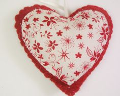 Primitive Valentines Day Ornament Felt by purelysimpledesigns, $5.00