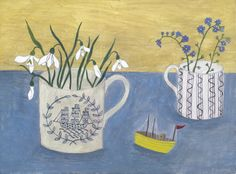 Debbie George 'yellow wooden boat' www.debbiegeorge.co.uk