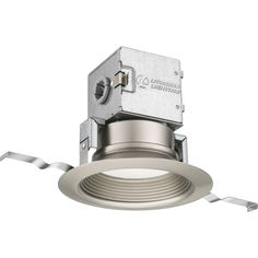 Lithonia Lighting 4 in. Lithonia OneUp Brushed Nickel Integrated LED Recessed Kit-4JBK RD 30K 90CRI BN M6 - The Home Depot
