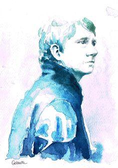 John Watson BBC Sherlock watercolor print 5'5 x 8' by gohuszMade, $10.00