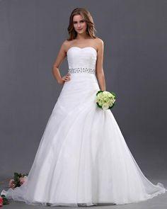 Sweetheart Organza A-line Wedding Dress
