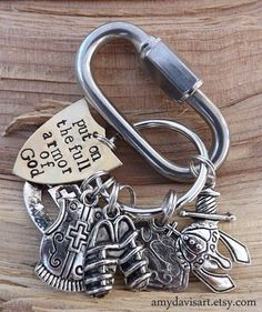 Armor Of God Keychain, Put On The Full Armour of God Christian Key Chain, Armor of God Key Chain for Men (or women), Ephesians 6