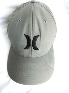 10be21931bf Hurley Nike DRI-FIT Iconic Grey Black Aerobill Flexfit Cap Hat Fitted Sz S-M