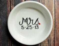 Ring Dish - Mrs. Engagement Ring Holder