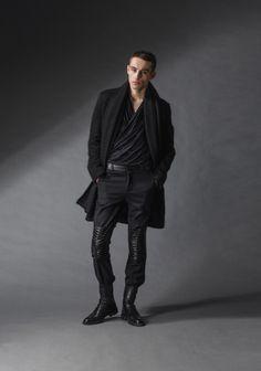 "black rebel coat michal kozlowski | diploma collection ""debut"" | 2014"