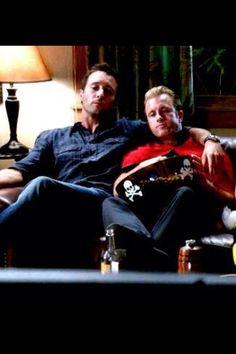Alex O'Loughlin and Scott Caan on Hawaii 5-O