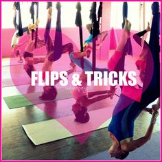FLIPS & TRICKS AERIAL YOGA TUTORIALS ! WITH MARGIE PARGIE