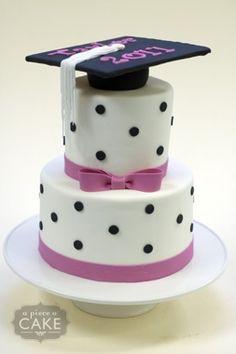 girly pink graduation cake